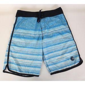 Billabong Platinum X PX3 Sz 34 Board Shorts Stripe
